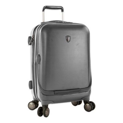 Heys® Portal SmartLuggage™ 21-Inch Expandable 8-Wheel Spinner Upright Luggage in Pewter