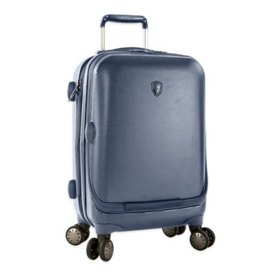 Heys® Portal SmartLuggage™ 30-Inch Expandable 8-Wheel Spinner Upright Luggage in Slate Blue
