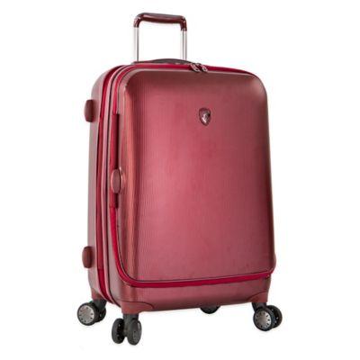 Heys® Portal SmartLuggage™ 26-Inch Expandable 8-Wheel Spinner Upright Luggage in Burgundy