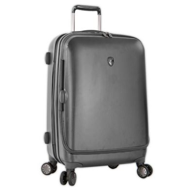 Heys® Portal SmartLuggage™ 26-Inch Expandable 8-Wheel Spinner Upright Luggage in Pewter