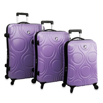 Heys® Eco Orbis™ 3-Piece 4-Wheel Spinner Upright Luggage Set in Cobalt