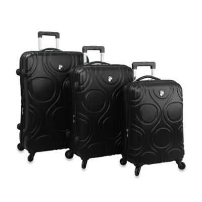 Heys® Eco Orbis™ 3-Piece 4-Wheel Spinner Upright Luggage Set in Black