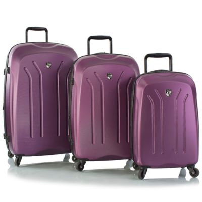 Heys® Lightweight Pro 3-Piece 4-Wheel Spinner Luggage Set in Purple