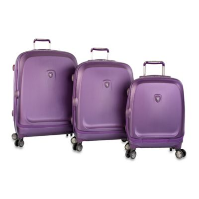 Heys® Gateway Smart Luggage 3-Piece Spinner Set in Purple