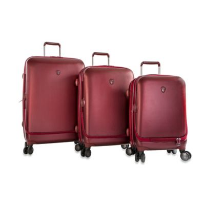 Heys® Portal Smart Luggage 3-Piece Spinner Set in Burgundy