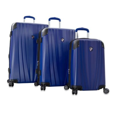 Heys® Velocity 3-Piece Upright 4-Wheel Spinner Set in Cobalt