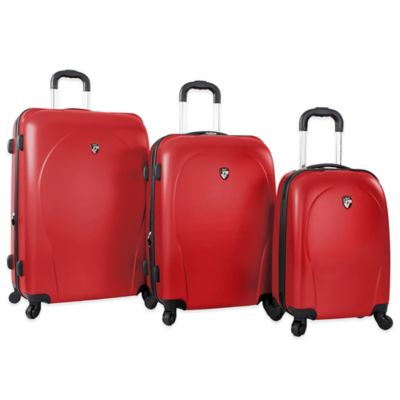 Heys America 3-Piece xCase Spinner Luggage Set in Red