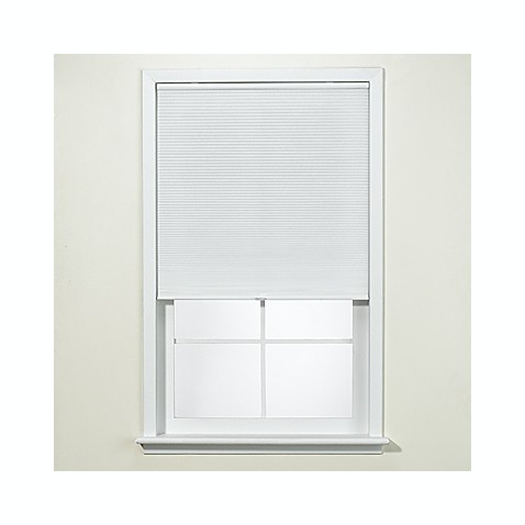 "White Honeycomb Cordless Cellular Shade - 41"" W"