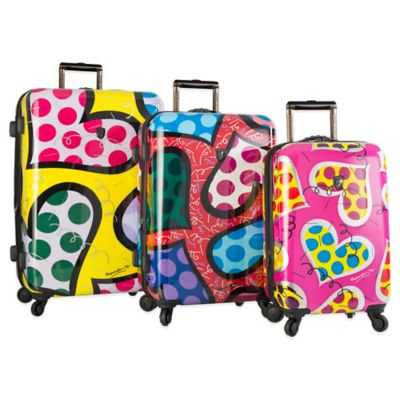Heys® Britto Hearts Carnival 3-Piece Upright Spinner Set
