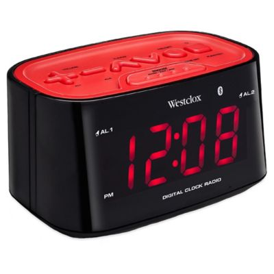 Westclox Bluetooth LED Alarm Clock Radio