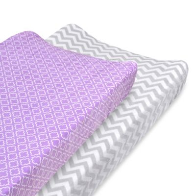 Carter's® Changing Pad Cover in Smoke Grey Chevron