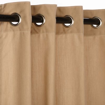 Pawleys Island® Sunbrella® 84-Inch Grommet Top Outdoor Curtain Panel in Light Brown