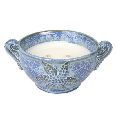 Woodwick® Ribbonwick™ Sapphire Sea Round Bowl Candle