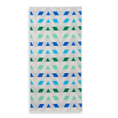 Chevron Beach Towel in Green