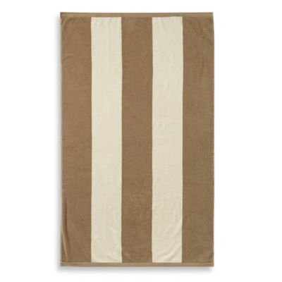 Wamsutta® Resort Stripe Beach Towel in Sand