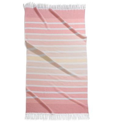 Pink Striped Bath Towels