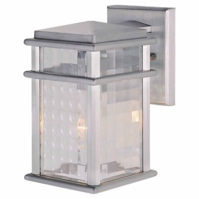 Feiss® Mission Lodge Outdoor 12.5-Inch Wall Lantern in Brushed Aluminum