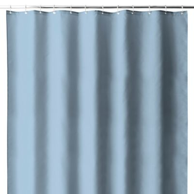 Hotel Fabric Shower Curtain Liner with Suction Cups in Dusk Blue