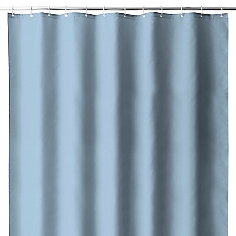 Buy Hotel Fabric Shower Curtain Liner With Suction Cups In Dusk Blue From Bed Bath Beyond