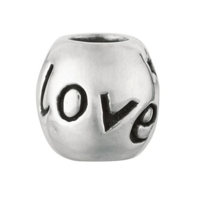 Personality Sterling Silver Love Barrel Bead