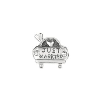 "Personality Sterling Silver ""Just Married"" Car Bead"