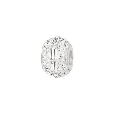 Sterling Silver Crystal Baguette Bead