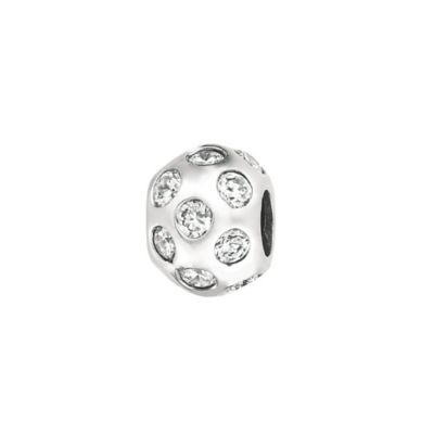 Personality Sterling Silver Clear Crystal Bead