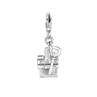 Personality Sterling Silver House and Key Charm