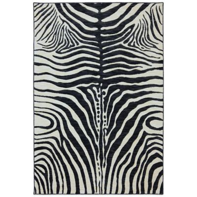 Karastan Panache Serengeti Gallery 2-Foot 4-Inch x 8-Foot 3-Inch Runner in Black