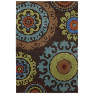Karastan Panache Indonesia 8-Foot x 10-Foot Rug in Coffee Bean