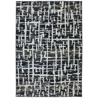 Karastan Panache Grasscloth 8-Foot x 10-Foot Rug in Black