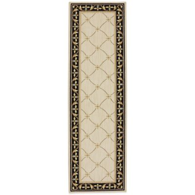 Karastan Sierra Mar Marie Louise 5-Foot x 4-Foot Rug in Ivory/Black