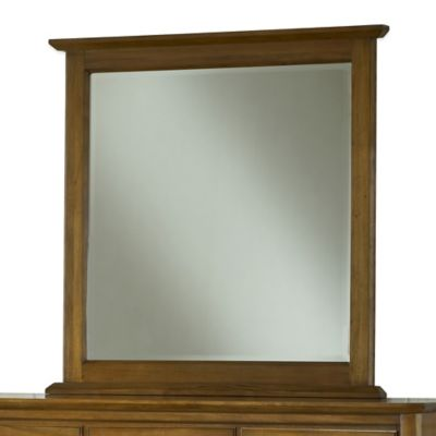 Modus Furniture City II 43-Inch Square Wall Mirror in Pecan