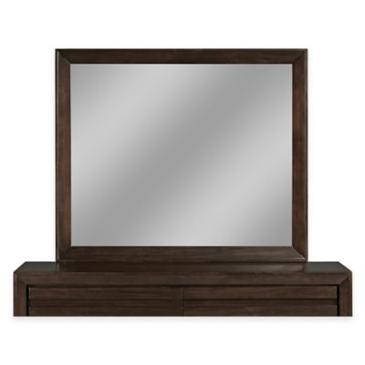 Modus Furniture Element 51-Inch x 43-Inch Rectangular Wall Mirror in Chocolate