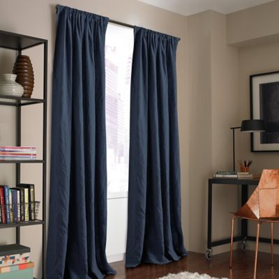 Kenneth Cole Reaction Home Mineral 63-Inch Window Curtain Panel in Stoney Blue