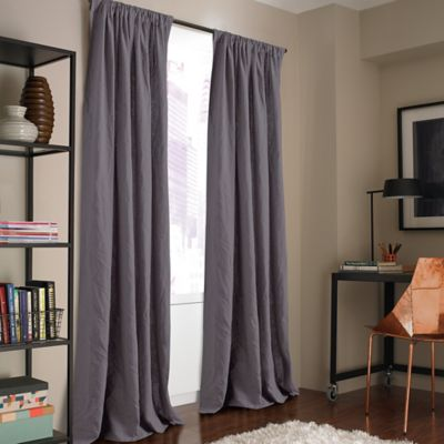 Kenneth Cole Reaction Home Mineral 84-Inch Window Curtain Panel in Shark