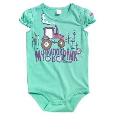 "Carhartt® Size 9M ""My Tractor is Pink"" Bodysuit"