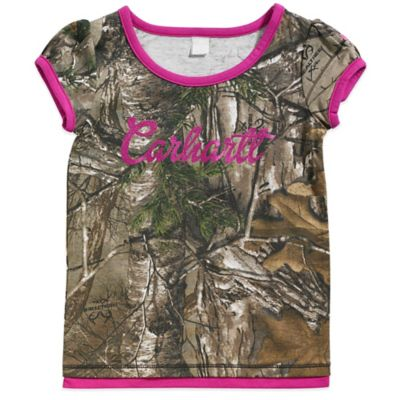 Carhartt® Realtree Xtra® Size 4T Camo Short Sleeve T-Shirt with Pink Trim