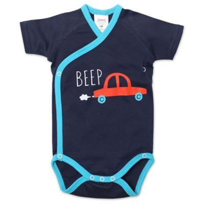 "Zutano® Newborn ""Beep"" Wrap Short-Sleeve Bodysuit in Navy"