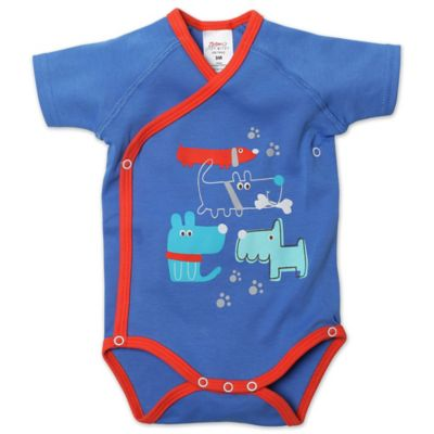 Zutano® Newborn Puppies Short Sleeve Bodysuit in Blue