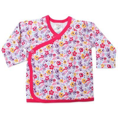 Zutano® Violetta Newborn Floral Long Sleeve Kimono Top