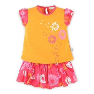 Petit Lem™ Tropical Love Size 3M 2-Piece Short Sleeve Top and Skirt with Bloomer Set