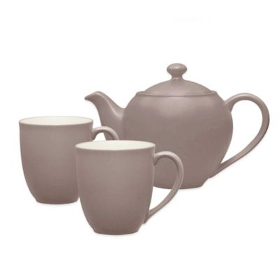 Noritake® Colorwave 3-Piece Tea Set in Clay