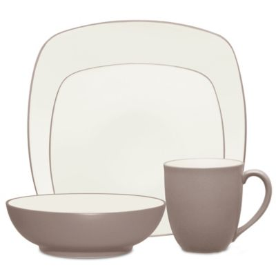 Noritake® Colorwave 4-Piece Square Place Setting in Clay