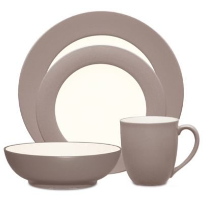 Noritake® Colorwave 4-Piece Rim Place Setting in Clay
