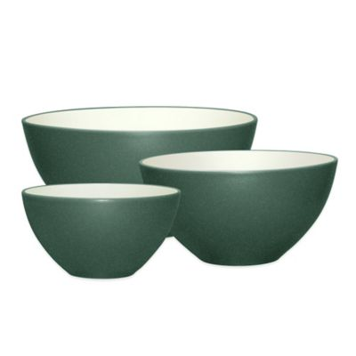 Noritake® Colorwave 3-Piece Mixing Bowl Set in Spruce