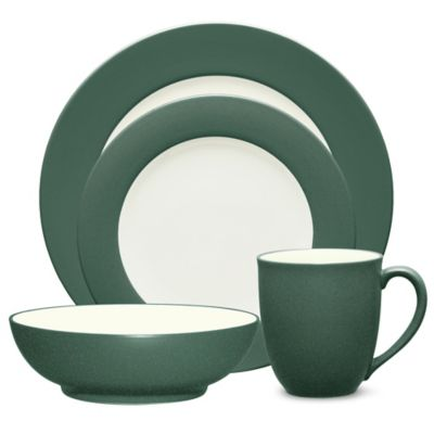 Noritake® Colorwave 4-Piece Rim Place Setting in Spruce