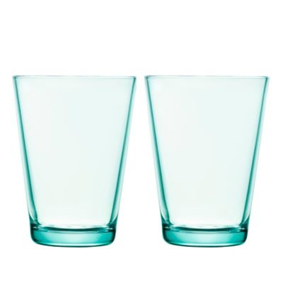Iittala Kartio 13.5 oz. Tumblers in Water Green (Set of 2)