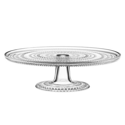 Iittala Kastehelmi Footed Cake Stand in Clear