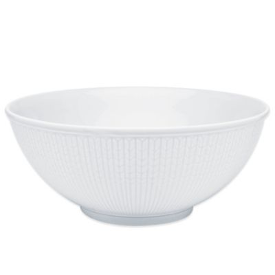 Rörstrand Swedish Grace Serving Bowl in Snow